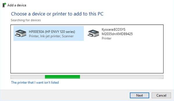 Connecter une imprimante sur Windows